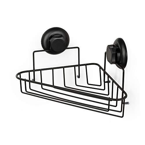Compactor Bestlock Black |Rejilla de Esquina 1 Estante | 23,8x23,8x12,8 cm, Acero Negro Mate, Simple