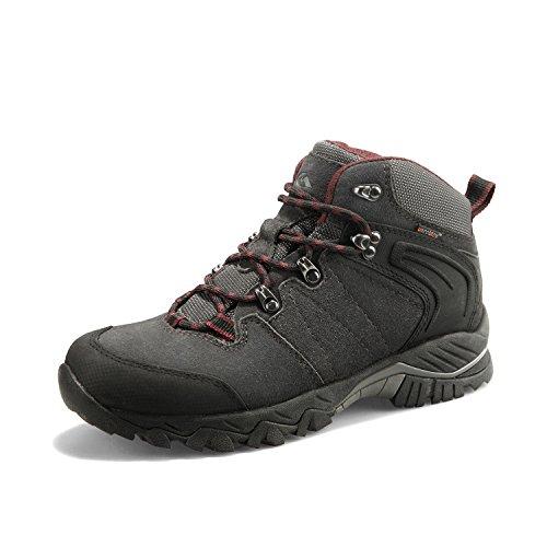 Clorts Men's Hiking Boot Waterproof Lightweight Backpacking Trekking Trail Shoes Dark Grey HKM-822A...
