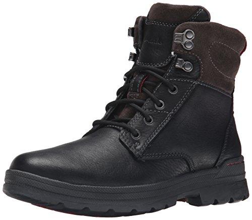 Clarks Men's Ryerson Rise Winter Boot, Black Tumble, 7.5 M US