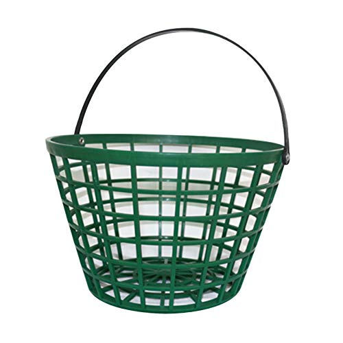 Afittel0 Korb für Golfbälle, Aufbewahrungsbehälter, für draußen, Grün, praktisch, für Zuhause, platzsparend, aus Nylon, Clubs, hohe Kapazität, stapelbar, tragbar mit Griff (25), Siehe Abbildung., 150