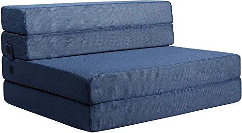 Milliard- Espuma Colchón y sofá Cama Plegable en Tres Partes 11,5 cm Sillón Cama o colchoneta (195x 97 cm)