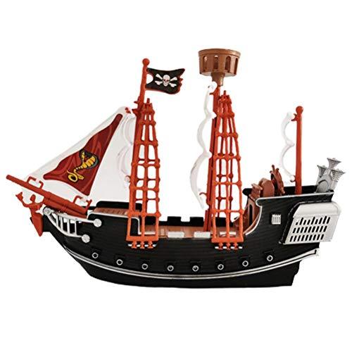Tixiyu Kinder-Piratenschiff-Spielzeug, Heimdekoration, Ornamente, Sicherheit, langlebig, Piratenschiff, Modell, Geschenk für Kinder ab 3 Jahren (27 x 19 x 6,5 cm)