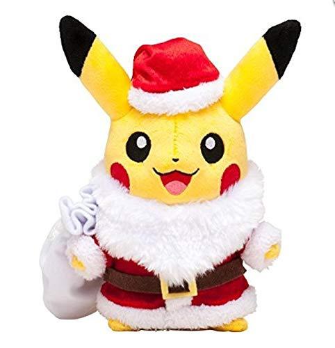 qinhuang Pokemon Cute Picachu Role Play Santa Claus Plush Animal Toys 25Cm, Children'S