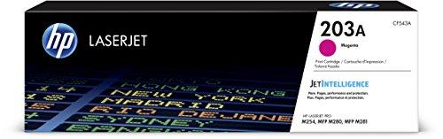 HP 203X (CF542X) Original Toner (mit hoher Reichweite) gelb & 203A (CF543A) Original Toner (für HP Laserjet Pro M254, HP Laserjet Pro M280, HP Laserjet Pro M281) rot
