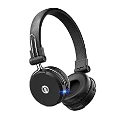 in budget affordable MuveAcoustics Impulse2Pro Wireless On-Ear Headphones – Noise-blocking Bluetooth Headphones, Steel…