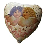 Heart Shaped Balloon Angels Cupid Love Gift Valentines Day Anniversary, Pack of 1 Pc, 18' MYLAR Floating Balloons, Aluminum Foil Helium Balloon With Metallic Luster, For Party Decorations.