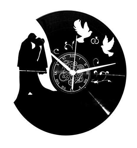 Instant Karma Clocks Orologio da Parete Disco in Vinile LP 33 Giri Idea Regalo SPOSI Nozze Matrimonio, Vintage, Handmade