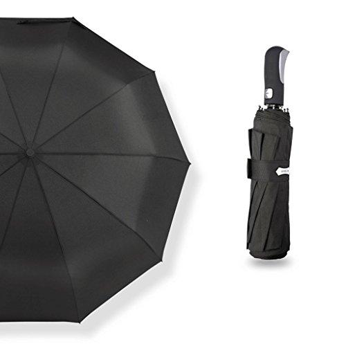 Pliable solide couleur parapluie Dix os grand parapluie automatique résistant au vent hommes et femmes affaires double pluie ensoleillé double parapluie ( Color : D )