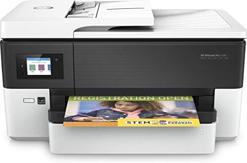 HP OfficeJet Pro 7720 Y0S18A, Stampante Multifunzione per Grandi Formati A3 a Singolo Cassetto, Stampa, Scansiona, Fotocopiatrice, Fax, ADF, Wi-Fi, Wi-Fi Direct, Ethernet, USB, HP Smart, Bianca