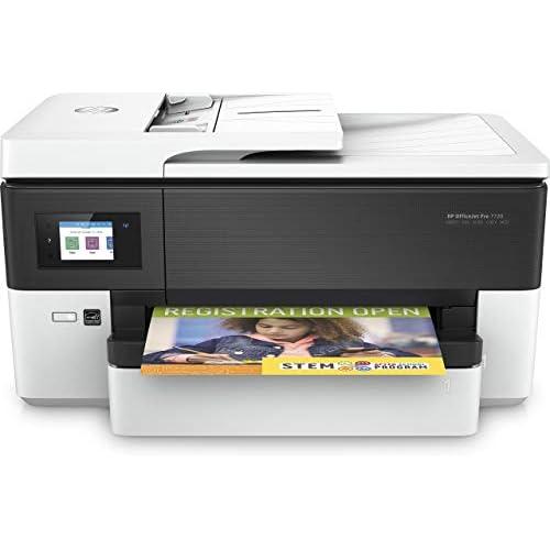 HP OfficeJet Pro 7720 Stampante Multifunzione a Getto di Inchiostro per Grandi Formati A3, Scanner, Fotocopiatrice, Fax, Schermo LCD, Wi-Fi, Wi-Fi Direct, Bianco