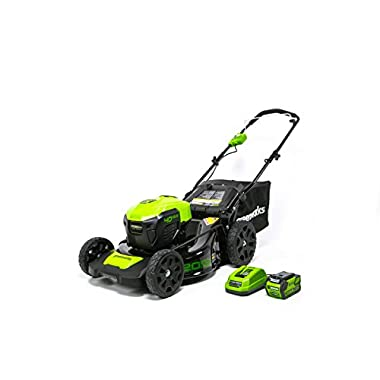 Greenworks 20-Inch 40V 3-in-1 Cordless Lawn Mower with Smart Cut Technology, 4.0 AH Battery included MO40L410