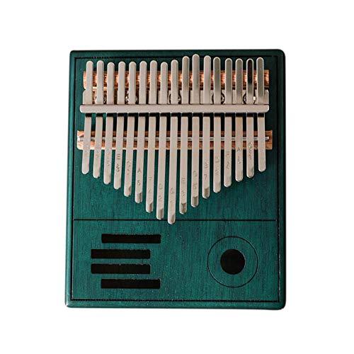Wangyan 123 17 Tasten Daumenklavier Leichtes tragbares Holzfinger-Klavier mit Stimmhammer, Klaviertasche und Schlüsselaufklebern für Anfänger, musikalisches Geschenk für Anfänger Gifts