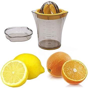 SLKIJDHFB Citrus Lemon Orange Juicer Manual Hand Squeezer 2in 1 Multi-function Manual Juicer with Strainer and Container 20oz