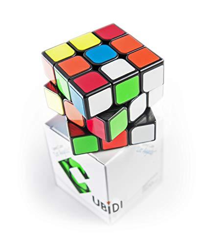 CUBIDI® Zauberwürfel 3x3 - Typ Los Angeles – klassischer Look - Speedcube 3x3x3 mit optimierten Eigenschaften für Speed-Cubing - Magic Cube für Anfänger und Fortgeschrittene