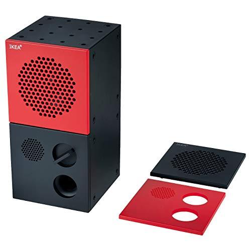 Ikea Frekvens 204.226.26 Lautsprecher Schwarz Gelb 4x8