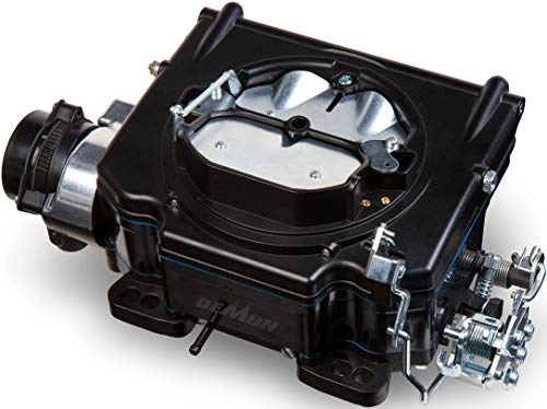 NEW HOLLEY STREET DEMON CARBURETOR,CERAMIC SHADOW BLACK FINISH WITH BLACK COMPOSITE FUEL BOWL,625 CFM,4 BARREL,ELECTRIC CHOKE,GASOLINE ONLY,VACUUM SECONDARIES