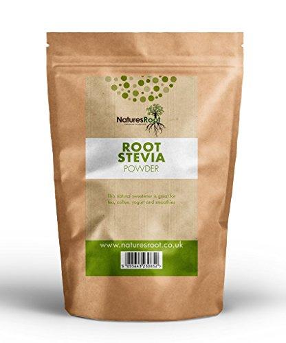 Natures Root Premium polvo de hoja verde de stevia–Edulcorante sostituivo dello Azúcar | sano & Natural | cero calorías 250g
