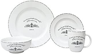 222 Fifth Table Graces 16 Piece Dinnerware Set, White