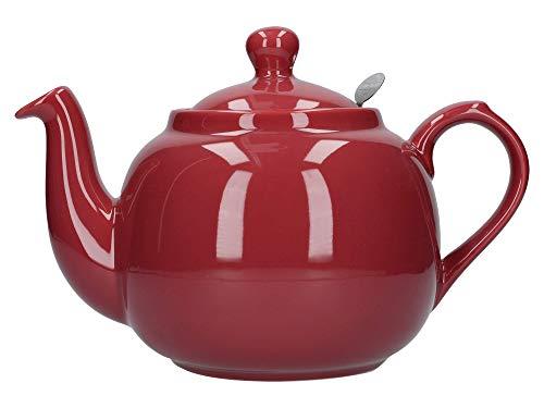 London Pottery Theiere avec filtre pour 6 tasses Rouge