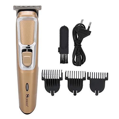 Elektrische tondeuse, elektrische tondeuse tondeuse snijmachine kappers tool eu plug 220-240 v (goud)(Goud)