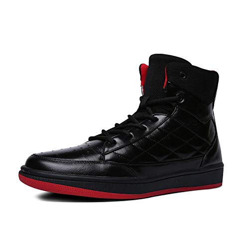 Soulsfeng Zapatos de baloncesto para hombre, ligeros, profesionales, antideslizantes, para deportes, negro (Transparente Negro), 42 EU