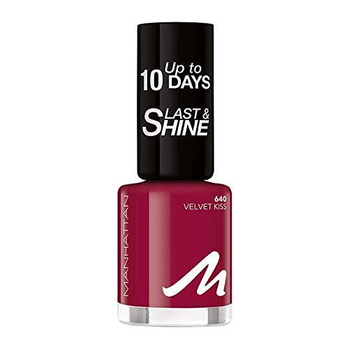 Manhattan Last und Shine Nagellack, Nr.640 Velvet Kiss, 1er Pack (1 X 10 ml)
