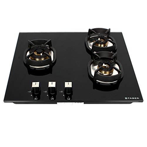 Faber Nexus HT603 CRS BR CI 3 Burners Hob Cooktop (Black)