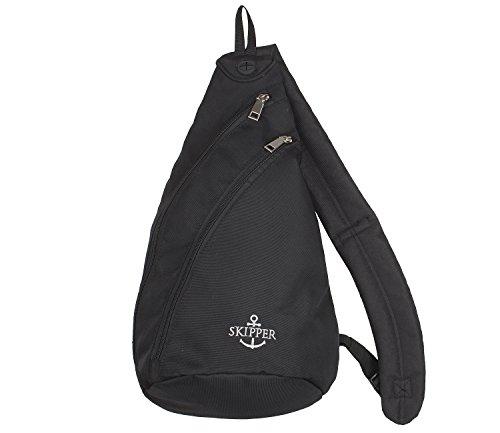 Skipper Body Bag mit Schultergut - Rucksack für Damen und Herren - Schwarz