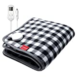 Mini Car Heated Blanket, 20 x 24inch Comfytemp 12V Electric Car Heating Pad with 4 Heat Levels, 5 Auto-Off & Stay on, Memory Function for Cars, Trucks and RV, Winter Travel - Machine Washable