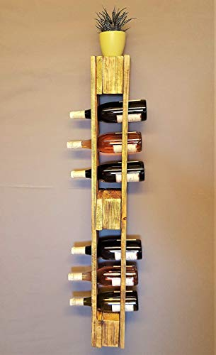 Weinregal Holz vintage Flaschenregal Palette beflammt Weinflaschenregal Wandregal Regal Hängeregal Palettenregal Palettenmöbel Bar Holzregal Shabby