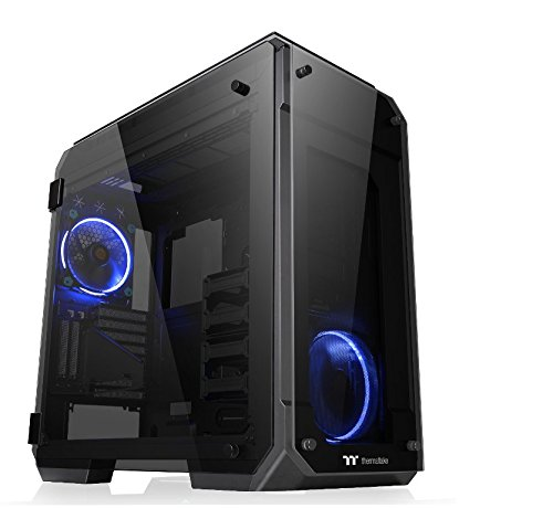 Thermaltake View 71 TG (Tempered Glass) PC-Gehäuse, schwarz/blau