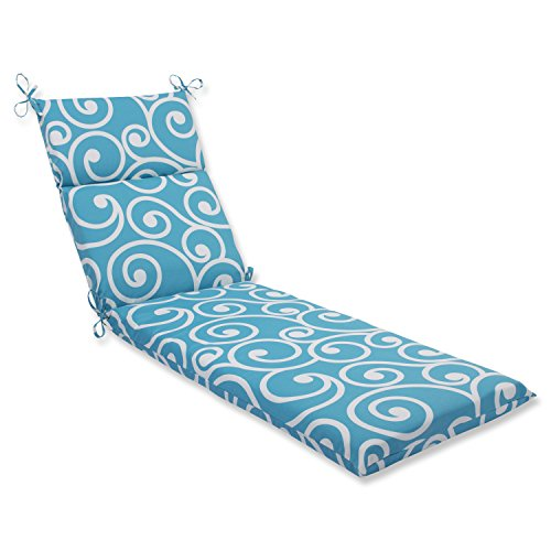 Pillow Perfect 563411 Outdoor/Indoor Best Chaise Lounge Cushion, 72.5' x 21', Turquoise