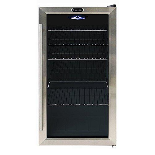 Whynter BR-130SB Beverage Refrigerator with Internal Fan, Black/Stainless Steel