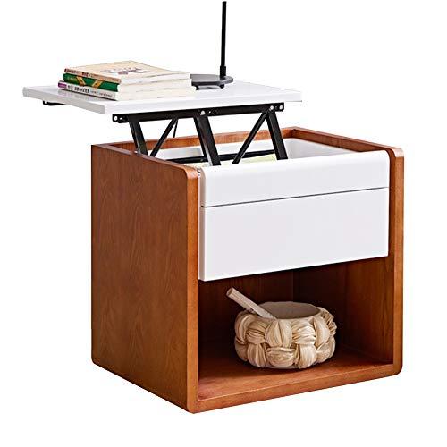 Tafel met opbergruimte, DD-bijzettafel, nachtkastje, multifunctionele kluisjes, opklapbare nachtkastje, banktafel, werkbank