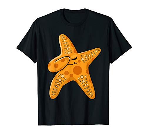 Kids Beach Starfishes Dress Art Outfit Gift Dabbing Starfish T-Shirt