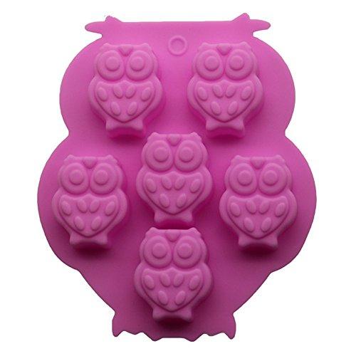 Milopon Molde de Silicona Figura de Búho para Repostería Gallete Bizcocho Chocolate Fondant Decoración de Pastel 13.5*11.2*2cm