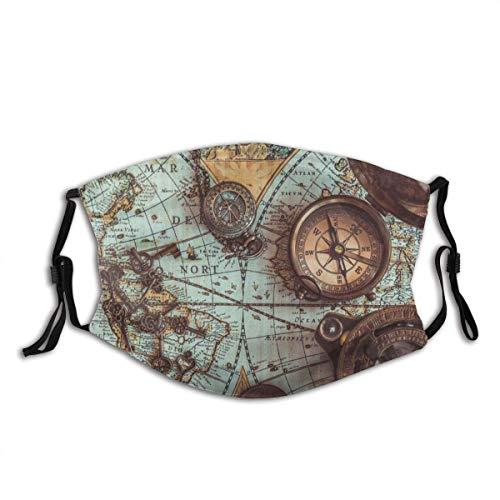 Protector bucal Antiguo Pirata - Colecciones de artículos raros, incluye pasamontañas para la boca, bandanas para decoración facial con 2 filtros