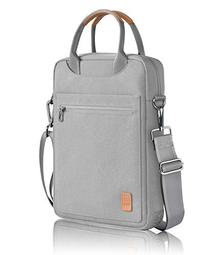 WIWU Laptop Shoulder Bag for MacBook Pro 13 Inch 2020, Carrying Case for MacBook Air 13 Inch 2020-2018, Surface Pro X/7/6/5/4 Briefcase Office Bag, Chromebook 11.6 New iPad Pro 12.9 Sleeve(Gray)
