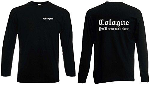 World of Shirt Herren Longsleeve Shirt Cologne Ultras S-XXL