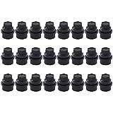 XtremeAmazing Pack of 24 Black Wheel Lug Nut Cap Covers 15646250...