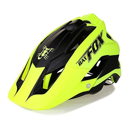 Leepesx Ultraleichter Fahrradhelm Integrierter MTB-Helm für Rennrad-Mountainbikes für 560-620 mm Kopfumfang