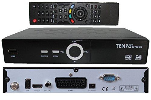 petit un compact Tempo TM-22700 FTA HD Satellite Demodulator Récepteur Parabolique Noir
