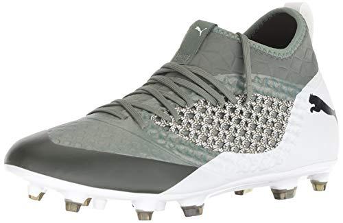 PUMA Men's Future 2.3 Netfit FG/AG Soccer Shoe, Laurel Wreath- White- Black, 11 M US