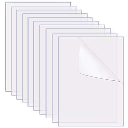 Lanjue 10 pcs Plexiglass Plaque Transparente, 15 * 10cm Plexiglas Acrylique Transparent Verre Acrylique Transparent pour Remplacement de la Vitre du Cadre Photo Décoration Intérieure