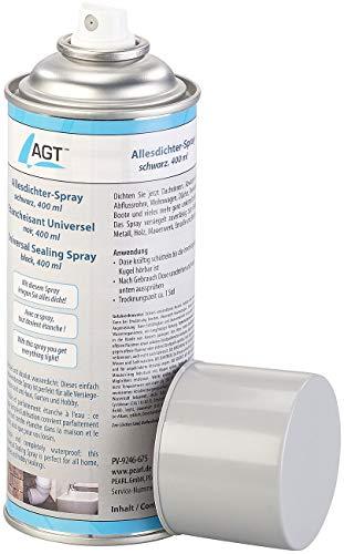 AGT Dichtungsspray Fenster: Allesdichter-Spray, schwarz, 400 ml (Allesdichter-Sprays)