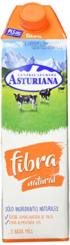 Central Lechera Asturiana Leche Fibra - Paquete de 6 x 1000 ml - Total: 6000 ml