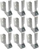 KOTARBAU® Juego de 10 soportes de vigas tipo A, 50 mm, conectores para vigas de madera, conectores para construcción exterior