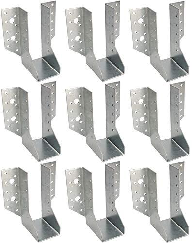 KOTARBAU® Juego de 25 soportes para vigas tipo A, 50 mm, conectores para vigas de madera, conectores para construcción exterior