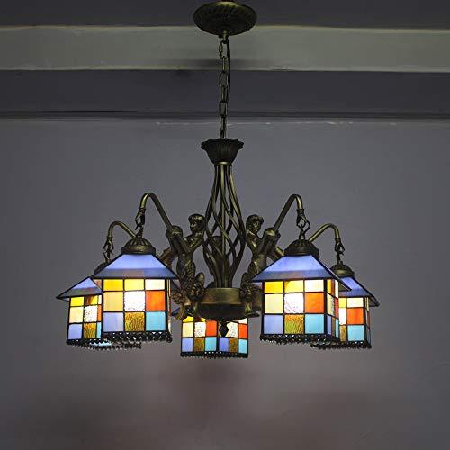 Lámpara Colgante Tiffany Diseño Vintage Salón Retro Comedor Porche Corredor Mediterráneo Balcón...
