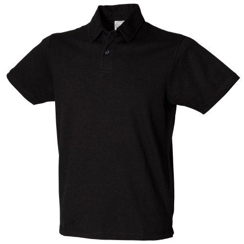 Skinni Fit - Polo à manches courtes - Homme (XL) (Noir)